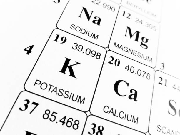 Royalty Free Symbol For The Chemical Element Potassium Pictures