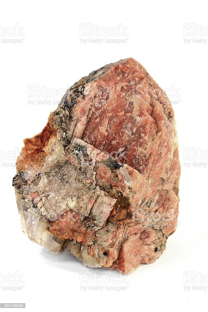 Potassium Orthoclase Feldspar with Granite enclosures stock photo
