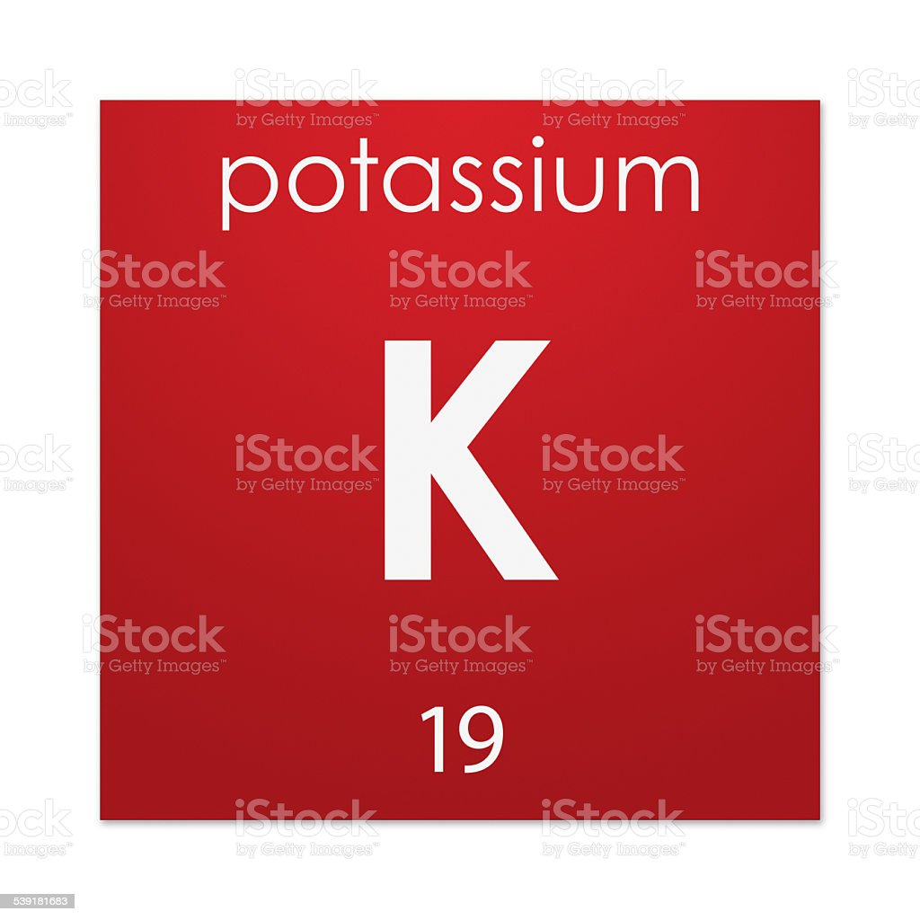 Potassium (chemical element) stock photo