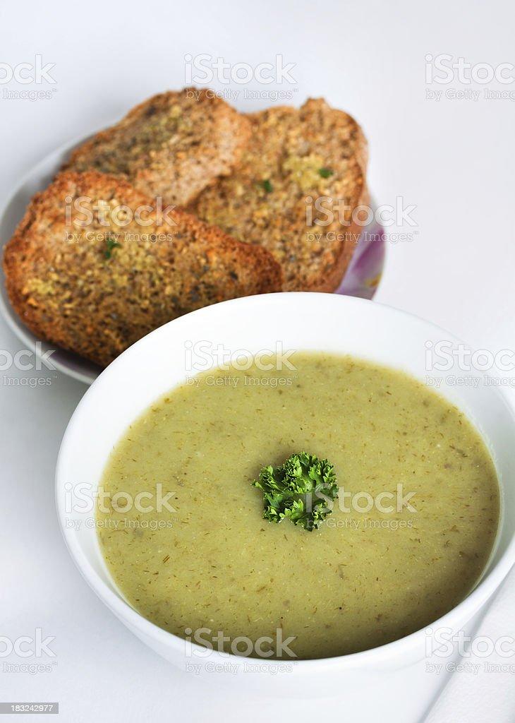 Potato & Leek soup royalty-free stock photo