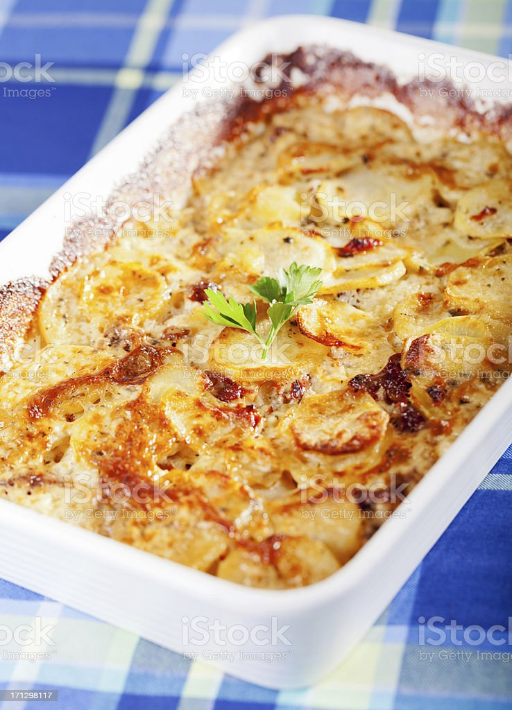 Potato and cheese casserole royalty-free stock photo