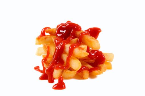 Potato and ketchup