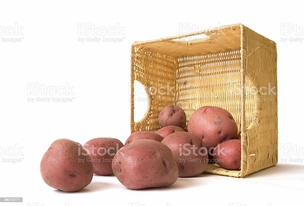 Potato Basket stock photo