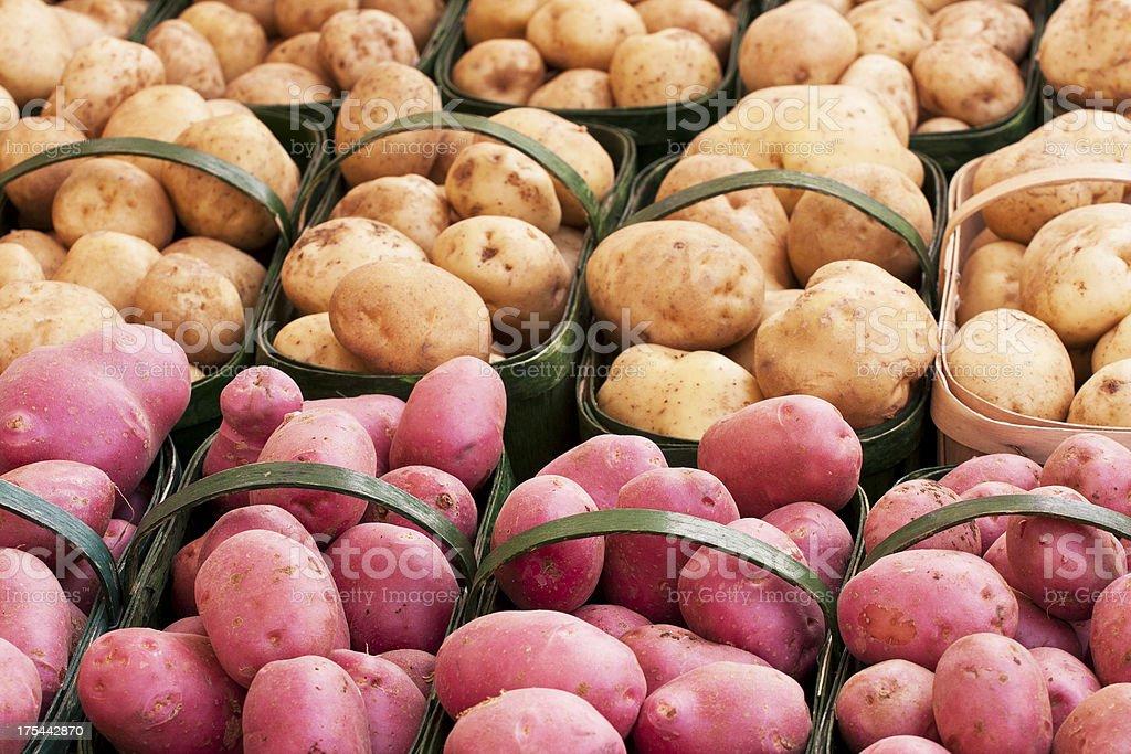 Potato Baskets royalty-free stock photo