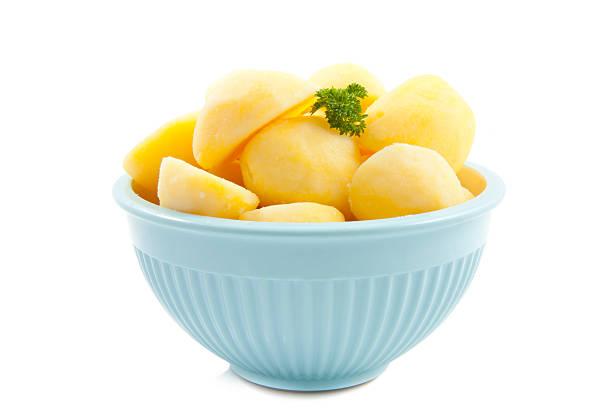 potato bowl - salzkartoffel stock-fotos und bilder