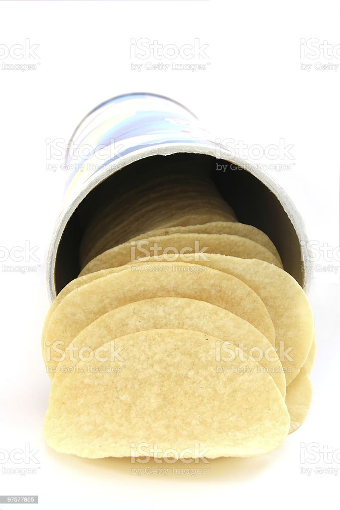 Potato chips in can royalty-free stock photo
