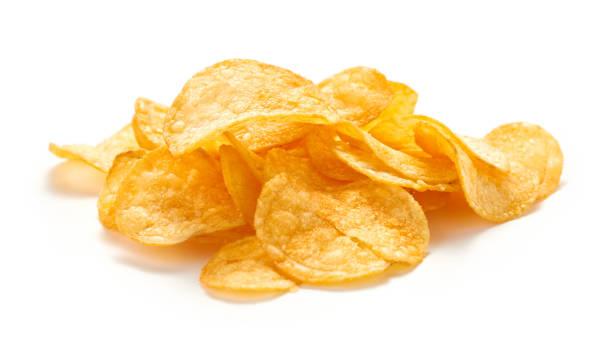 potatischips isolerade - chips bildbanksfoton och bilder