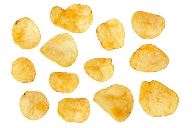potatis chips isolerade - chips bildbanksfoton och bilder