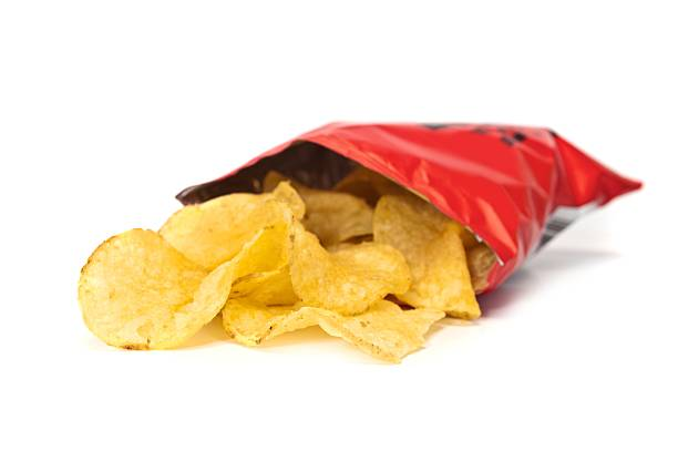 potato chips - crisp packet stock photos and pictures