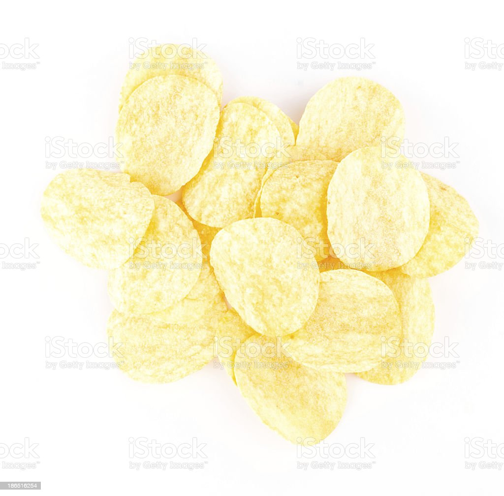 Potato chips royalty-free stock photo