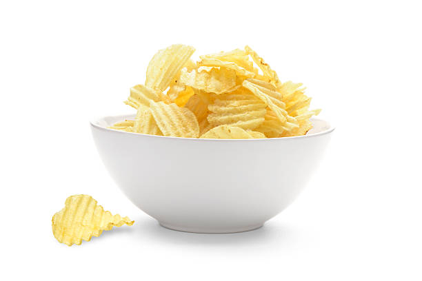 potato chips - bowl stock pictures, royalty-free photos & images