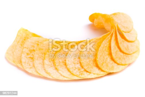 Potato Chips Stock Photo & More Pictures of Close-up