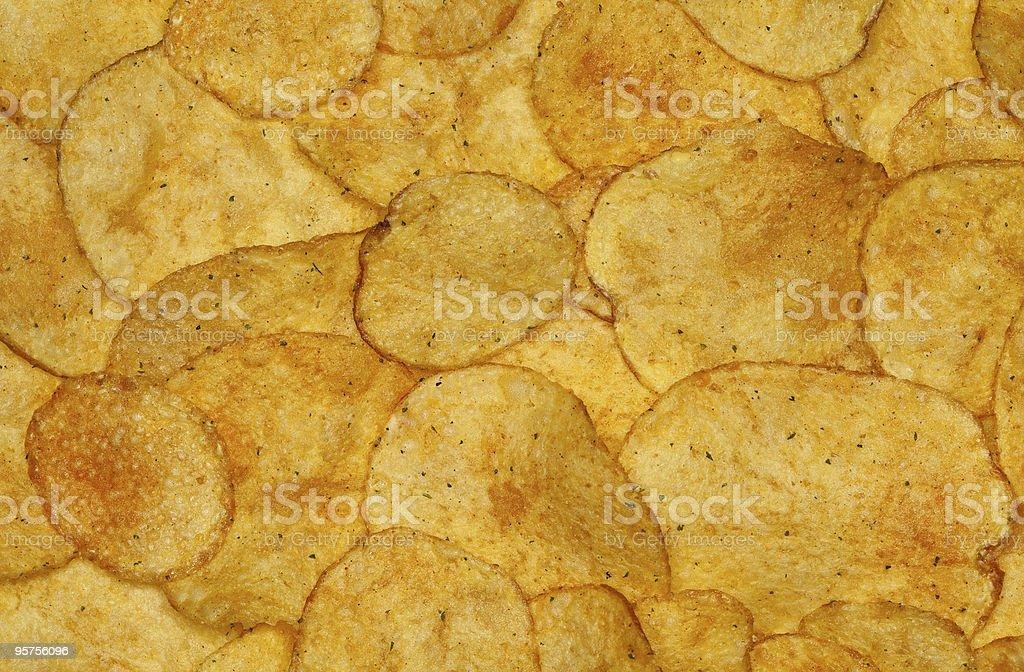 potato crisps background, full frame stock photo