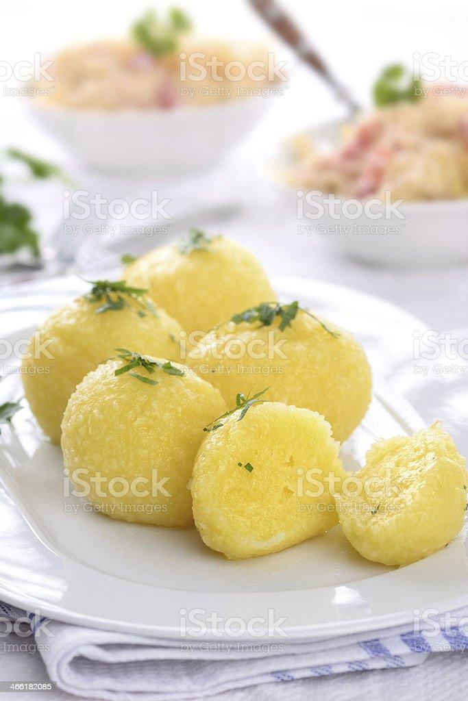 Potato dumpling stock photo