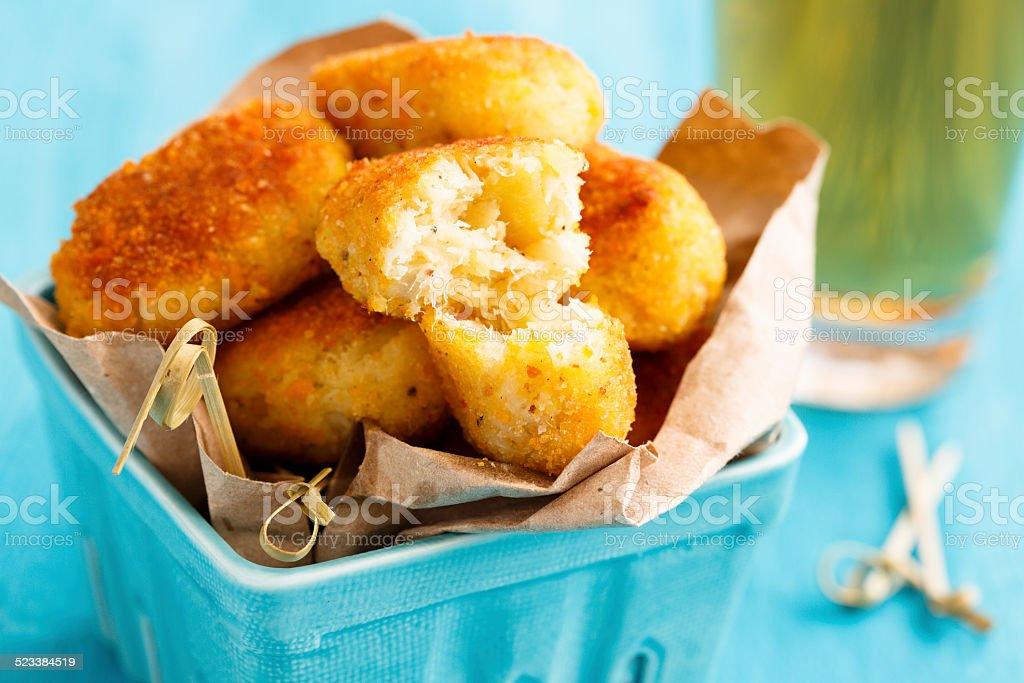Potato fries with cod foto