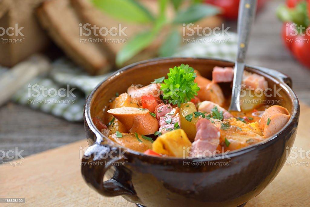 Potato goulash stock photo