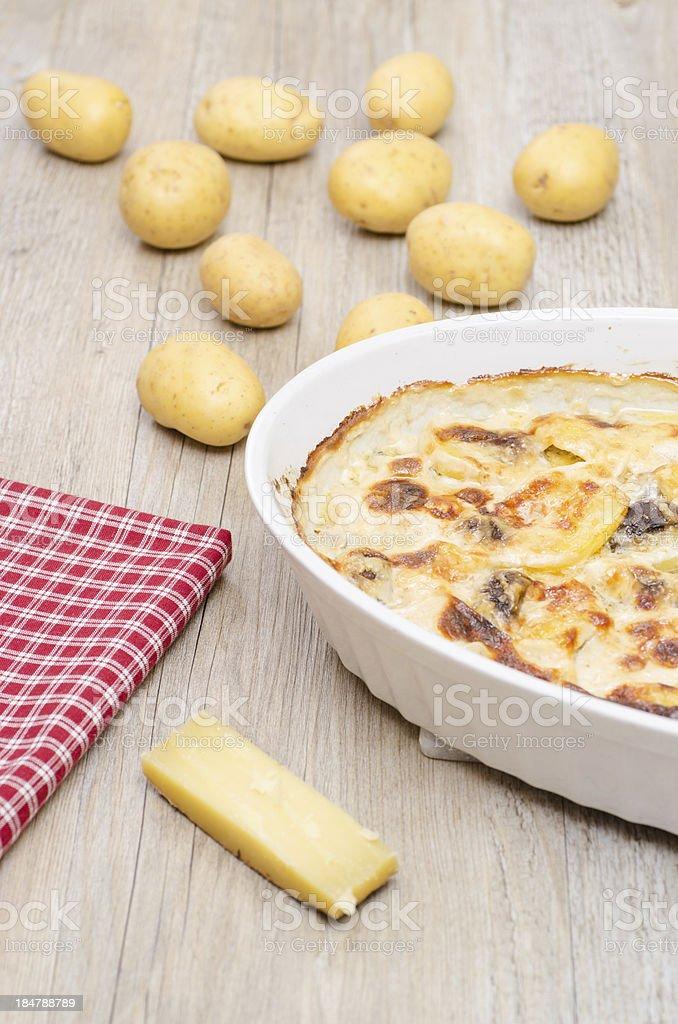 Potato gratin royalty-free stock photo