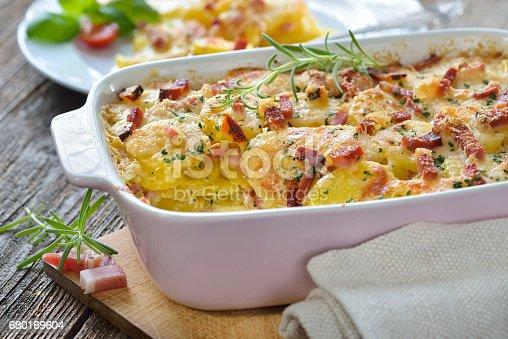 istock Potato gratin with bacon 680169604