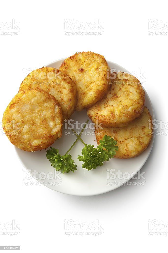 Potato: Hash Browns royalty-free stock photo