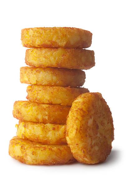 kartoffel: hash browns - haschee stock-fotos und bilder