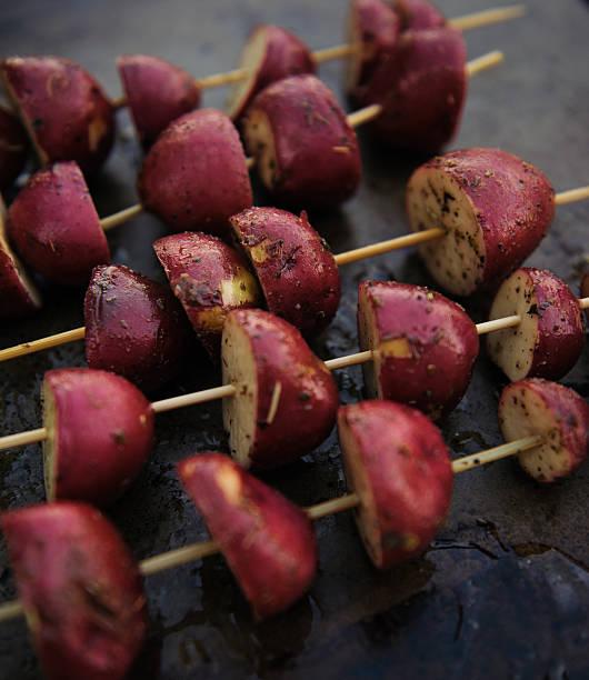 Potato Kebabs stock photo