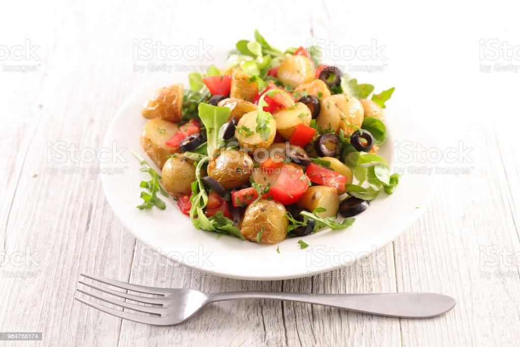 potato mixed vegetable salad royalty-free stock photo