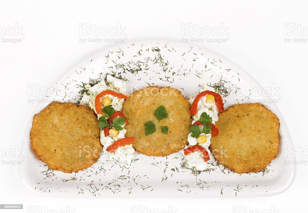 Potato Pancake / Griddle Cake royalty free stockfoto
