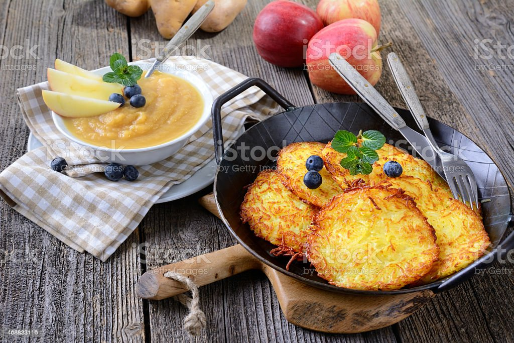 Potato pancake stock photo