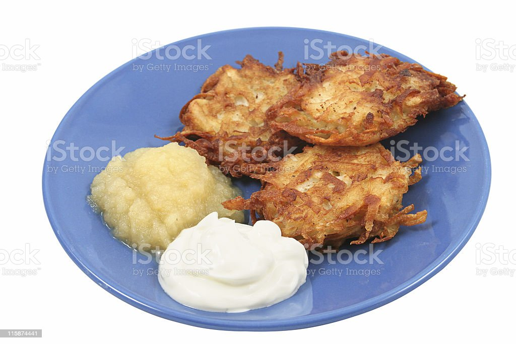 Potato Pancakes Isolated stock photo