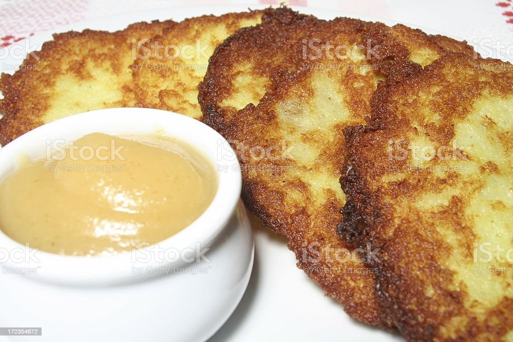 Potato Pancakes royalty-free stock photo