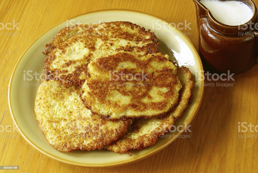 Potato pancakes (Latkes) royalty-free stock photo