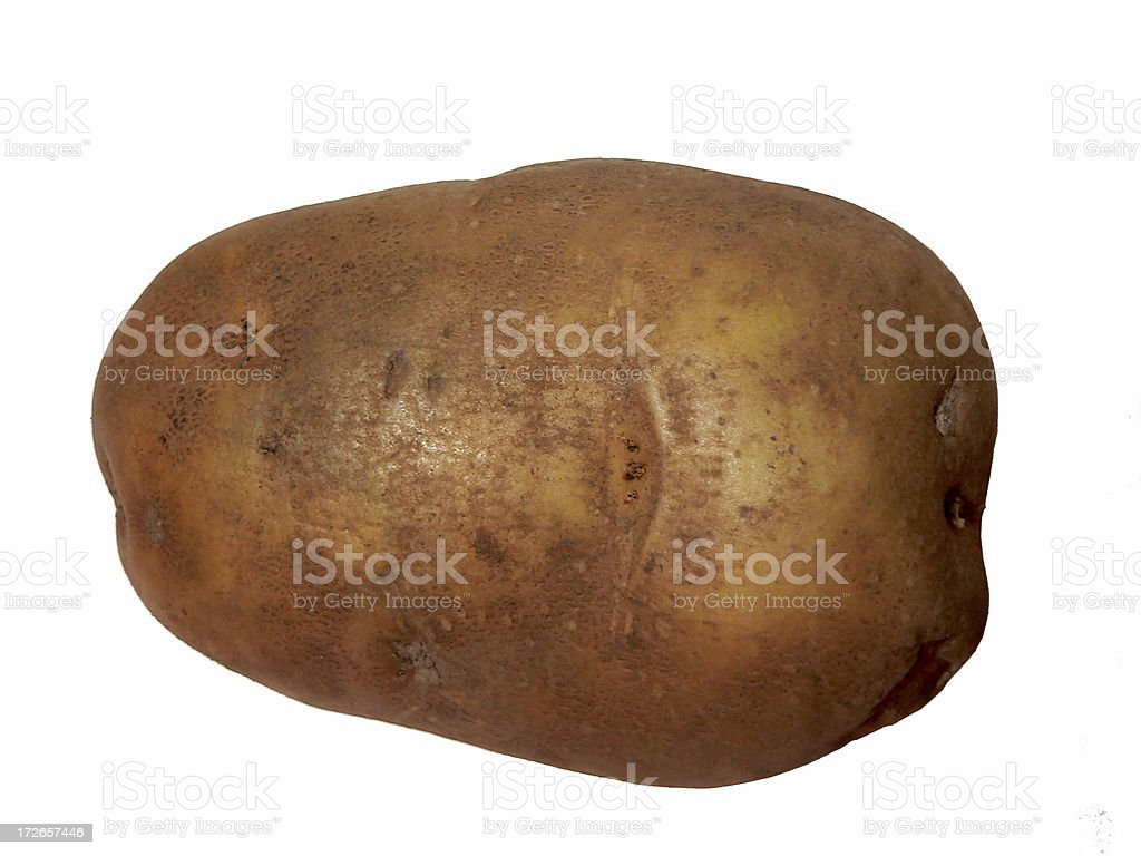 Potato (clipped out) royalty-free stock photo