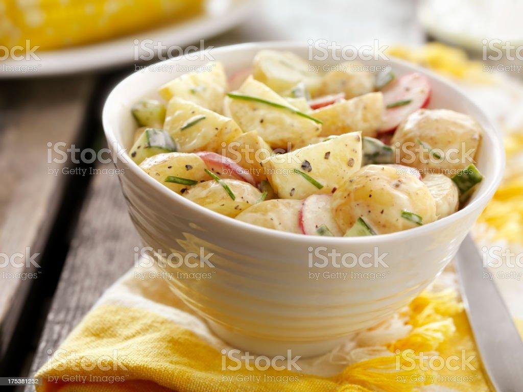 Potato Salad at a Picnic stock photo