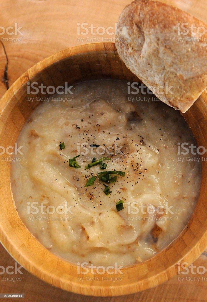 Potato Soup Above stock photo