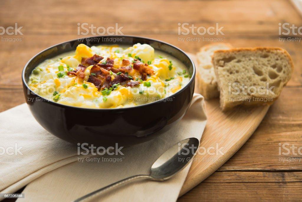 Potato Soup Place setting royalty-free stock photo