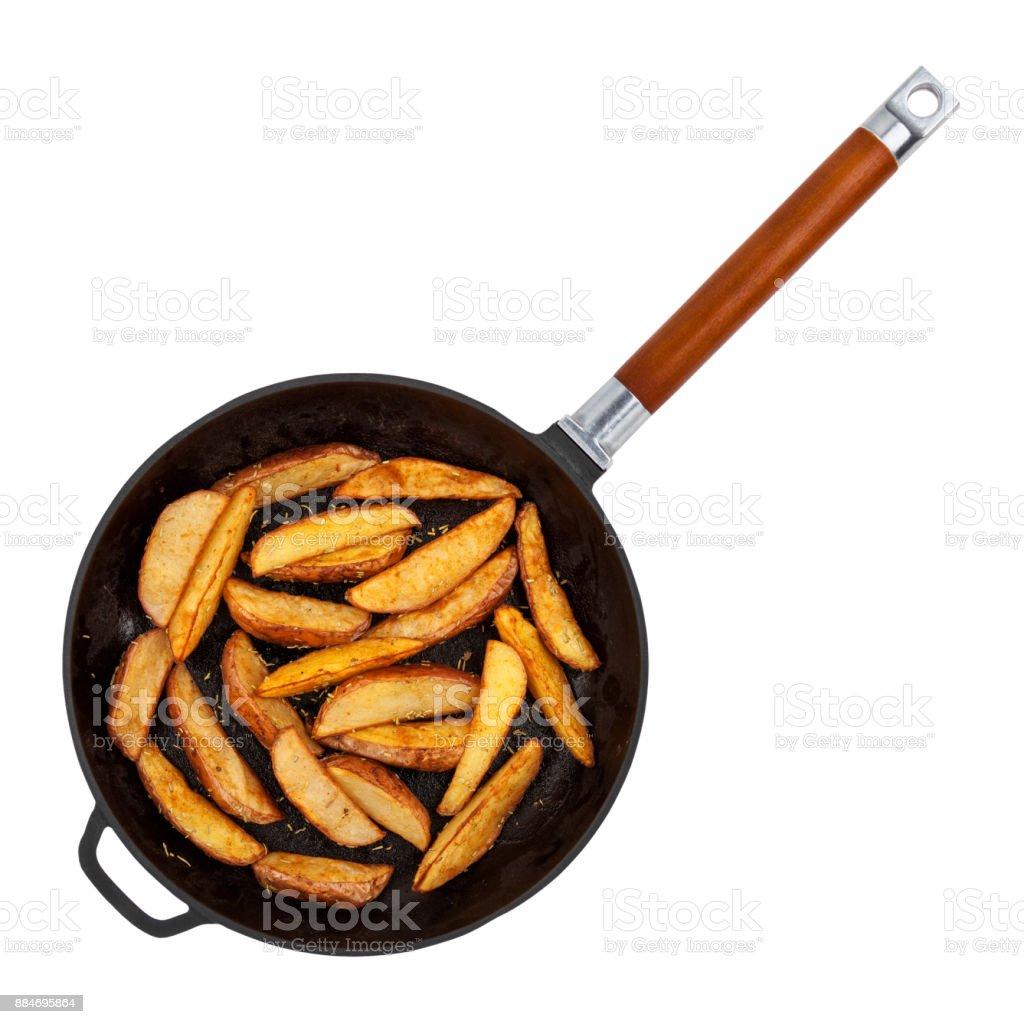 Kartoffelecken auf weiß – Foto