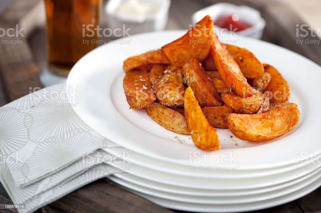 Potato Wedges royalty-free stock photo