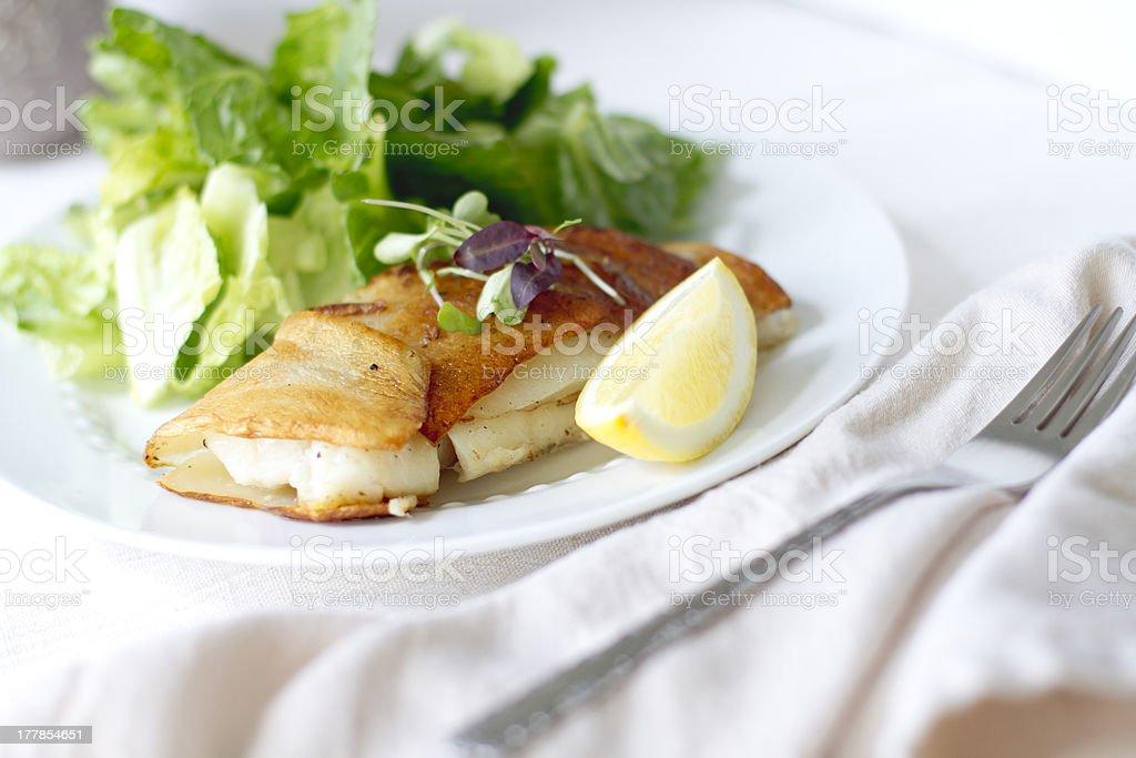 Potato Wrapped Cod royalty-free stock photo