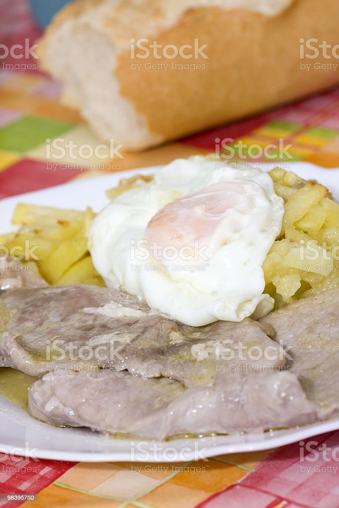 potatoes and egg royalty-free stock photo