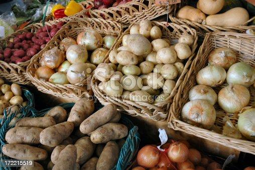 Produce market scene
