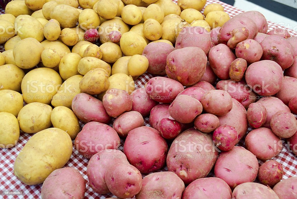 Potatoes at a Farmers' Market royalty-free stock photo
