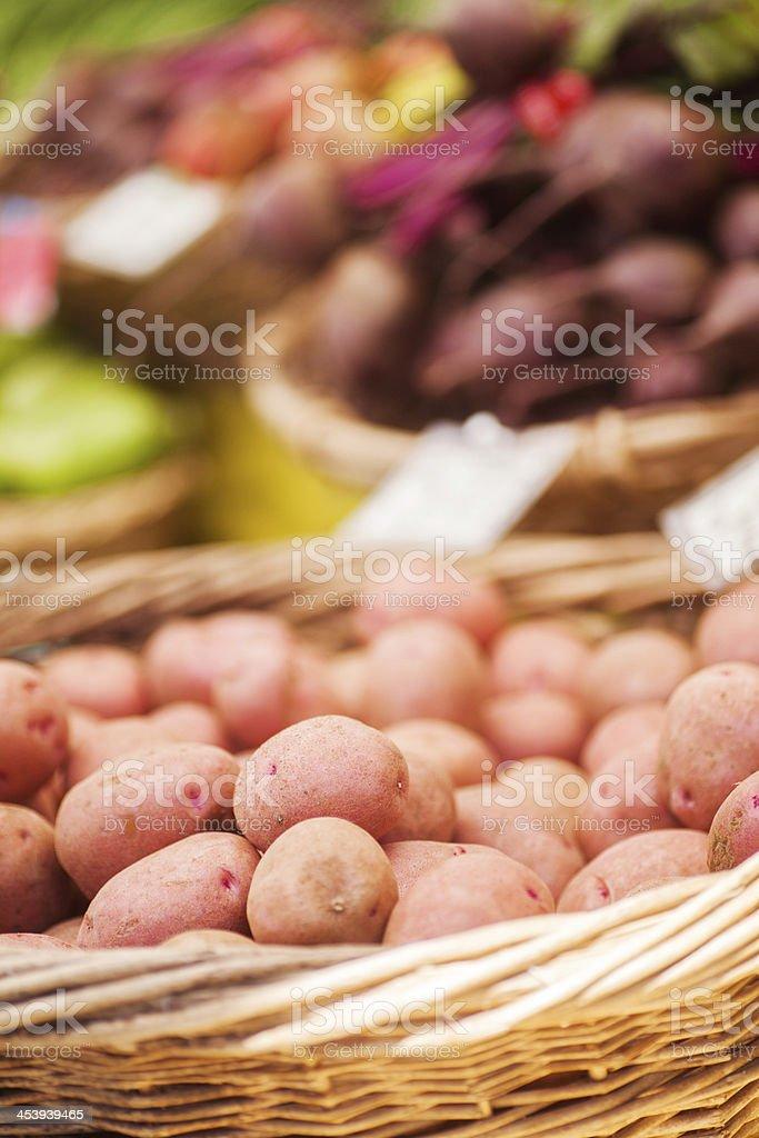 Potatoes at farmer's market royalty-free stock photo