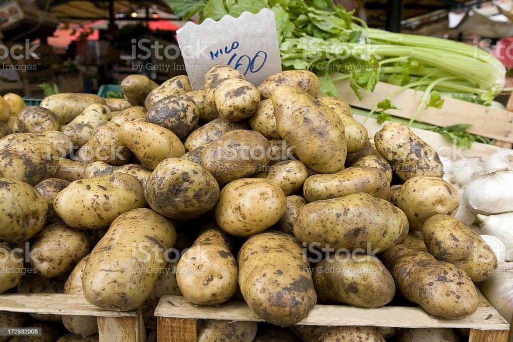 Potatoes at Market royalty-free stock photo