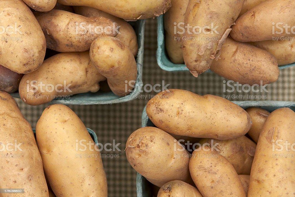 Potatoes at Market stock photo