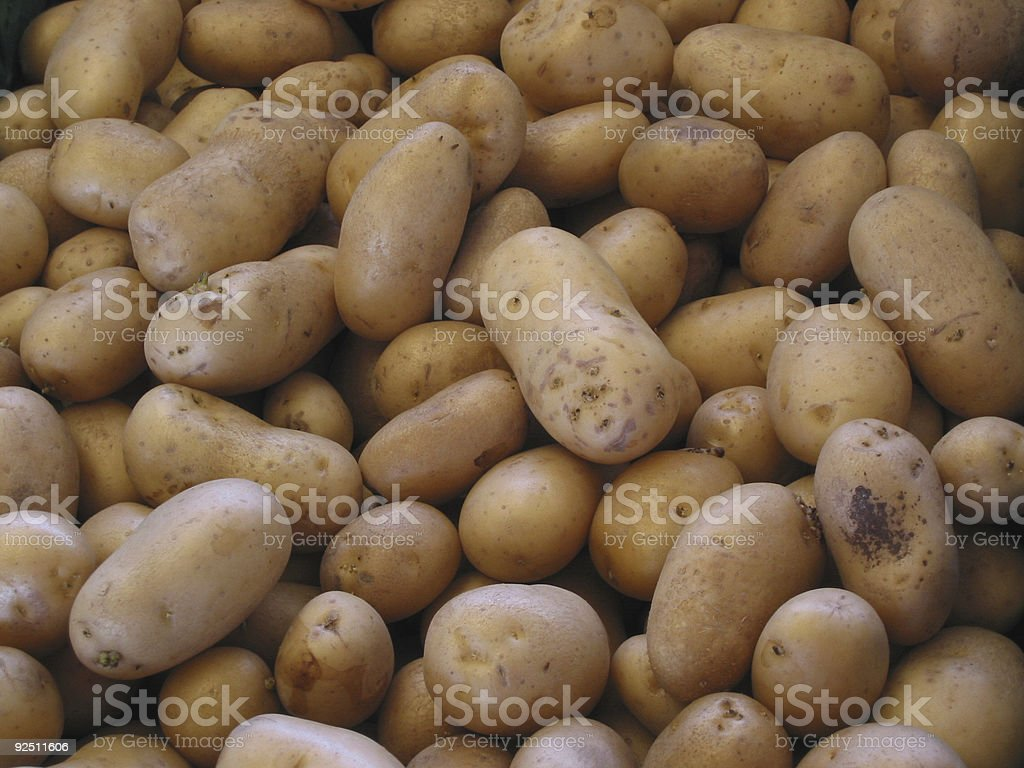Potatoes at the local market royalty-free stock photo