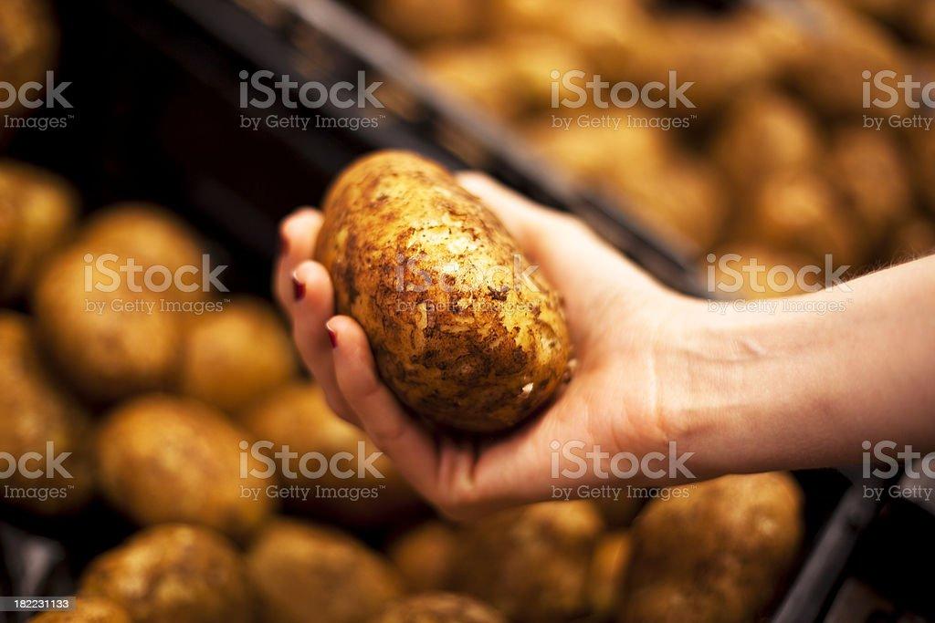 Potatoes at the market royalty-free stock photo