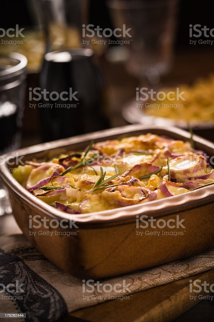 Potatoes Au Gratin royalty-free stock photo