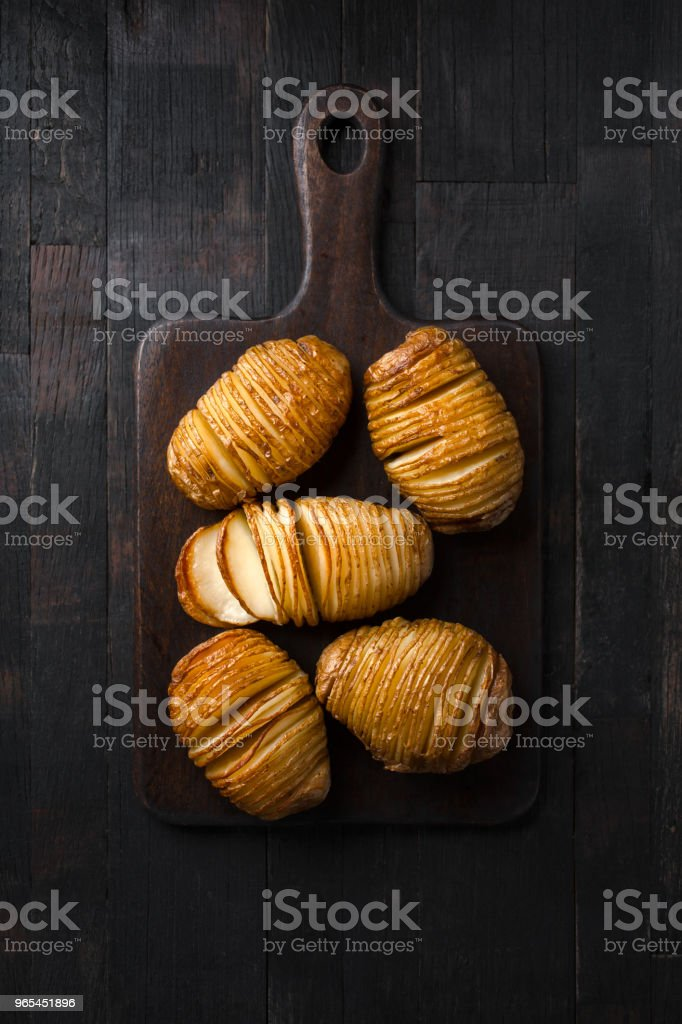 Potatoes baked in stripes. royalty-free stock photo
