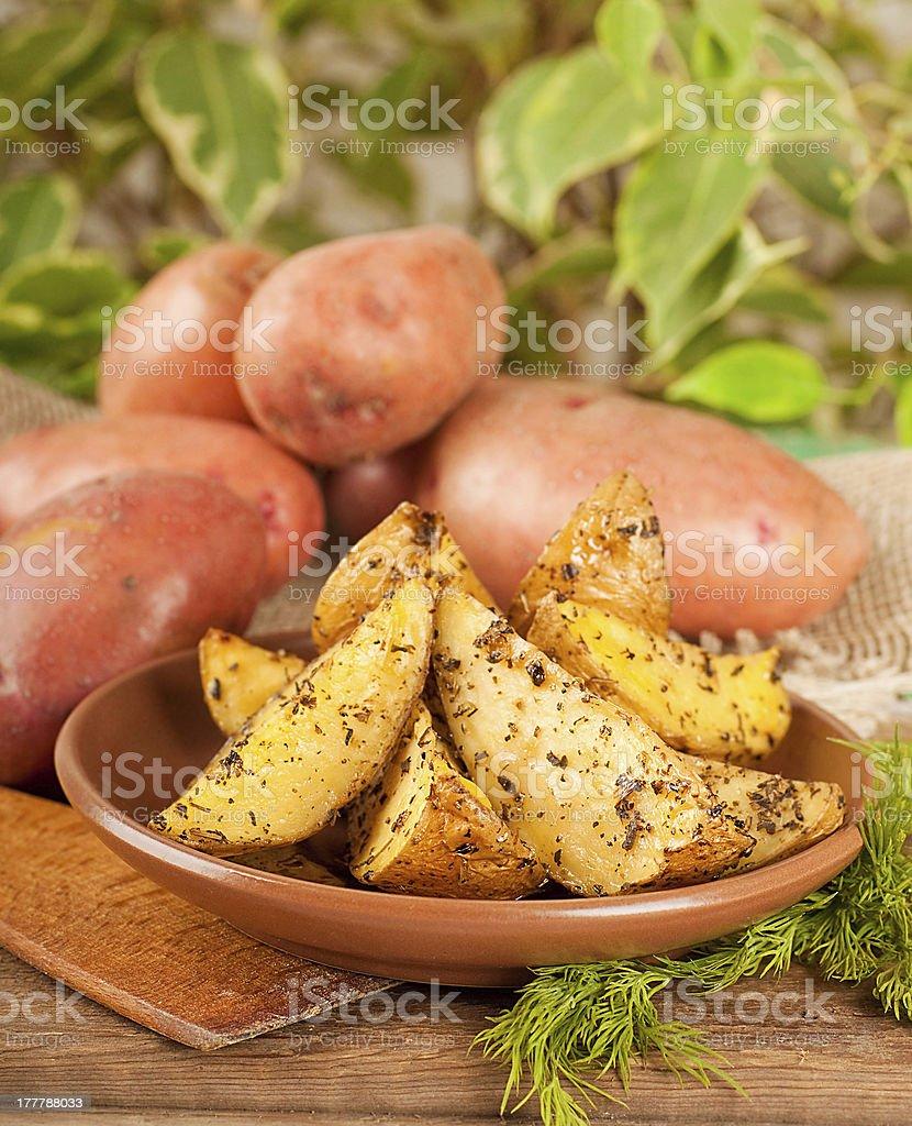 Potatoes baked royalty-free stock photo