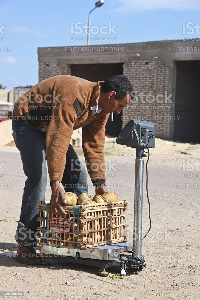 Potatoes for sale royalty-free stock photo